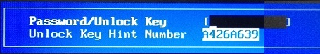 dell unlock key hint
