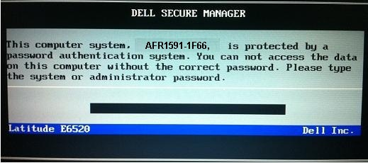 Dell 1F66 Bios Password removal