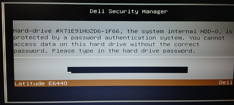 Dell Latitude E7440 master password
