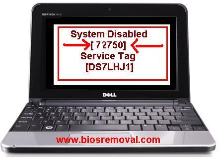 reset dell 1000 bios password