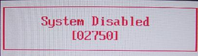 dell inspiron 1525 System Disabled master password