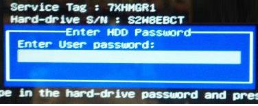hard drive password for dell latitude n series